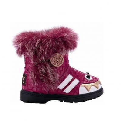 YXY - Zapatos de suela de goma blanda niñas | Botas monstruo rosa