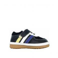 FREYCOO - Zapatos de cuero chirriantes - squeaky shoes niños | Zapatilla de deporte negras cordones verde