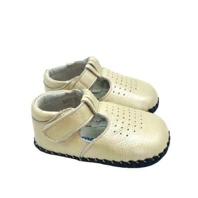 Chaussures premiers pas cuir souple sandales fermées BEAU GOSSE CEREMONIE