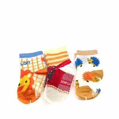 Lot de chaussettes antidérapantes LION, CHAUSSURE, HERISSON