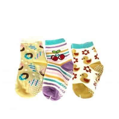 3 Paare antirutsch Babysöckchen Baby Kind im Alter von 1 bis 3 Jahre   Mädchen 19