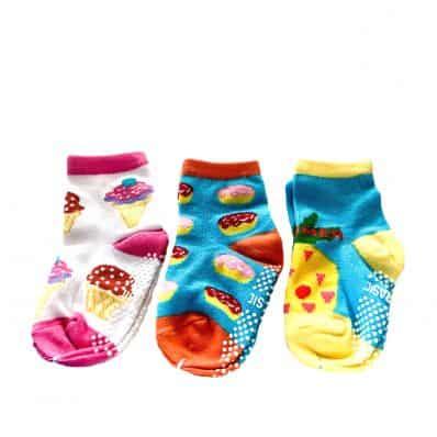 Lot de chaussettes antidérapantes ANANAS, GLACE, GATEAU