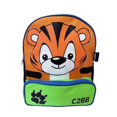 ORANGE IDEA - Boys children backpack schoolbag | Tiger