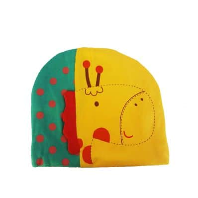 C2BB - Baby hat giraffe - one size | Yellow and green
