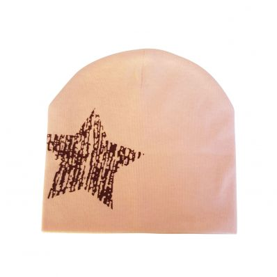 C2BB - Baby hat - one size | Pink brown star