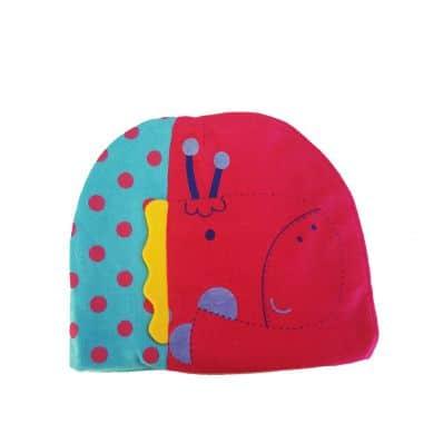 C2BB - Baby hat giraffe - one size | Fushia and blue