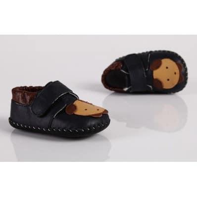 FREYCOO - Krabbelschuhe Babyschuhe Leder - Jungen | Sneakers kleiner Bär
