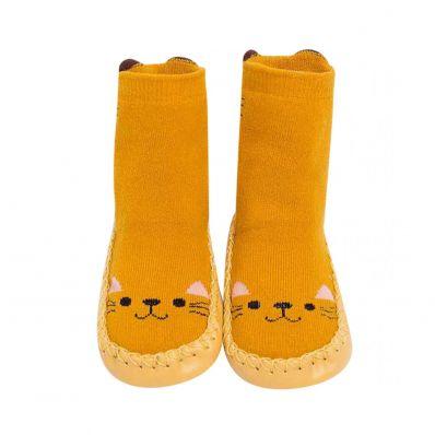 Chaussons-chaussettes hautes Chat C2BB - chaussons, chaussures, chaussettes pour bébé