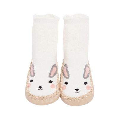Chaussons-chaussettes hautes Lapin