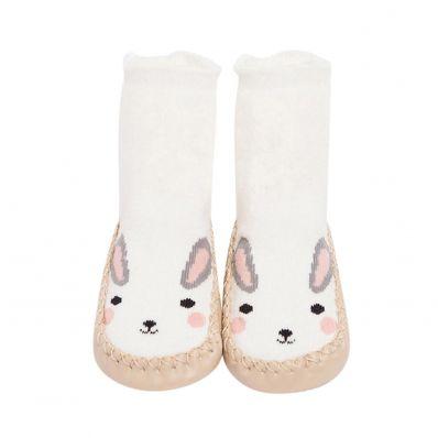 Chaussons-chaussettes hautes Lapin C2BB - chaussons, chaussures, chaussettes pour bébé