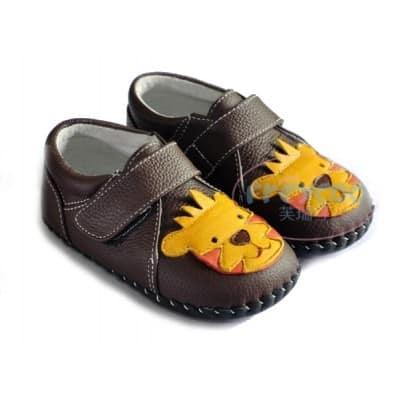 FREYCOO - Krabbelschuhe Babyschuhe Leder - Jungen | Sneakers kleiner Löwe