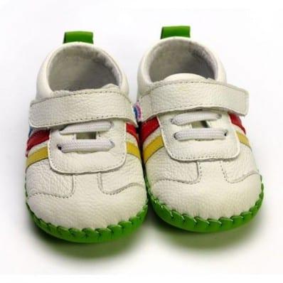 FREYCOO - Krabbelschuhe Babyschuhe Leder - Jungen | Sneakers weiß