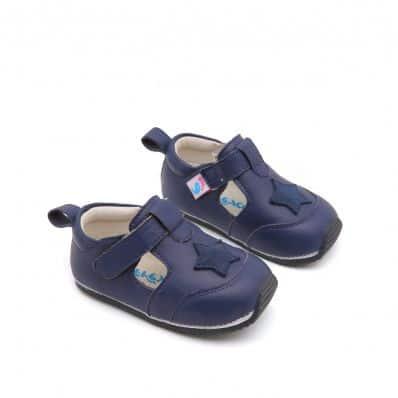 sandales fermées semelles souples ÉTOILENAVY C2BB - chaussons, chaussures, chaussettes pour bébé