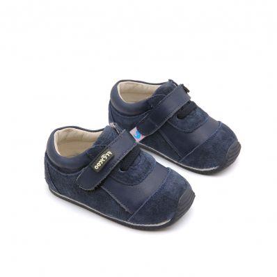 Chaussures premiers pas cuir souple baskets Nubuck Navy Blue