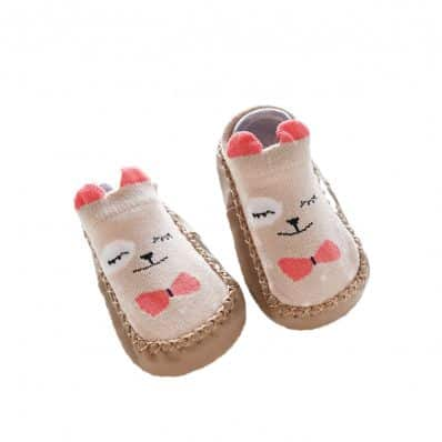 Chaussons-chaussettes basses Petit Ours C2BB - chaussons, chaussures, chaussettes pour bébé
