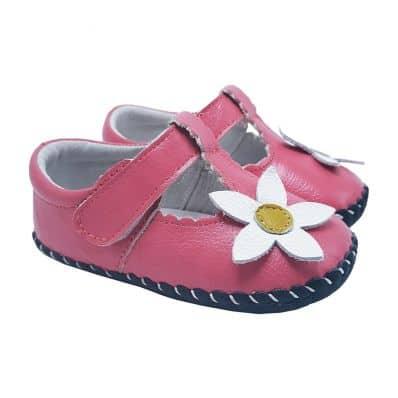 Chaussures premiers pas cuir souple MARGUERITE BLANCHE C2BB - chaussons, chaussures, chaussettes pour bébé
